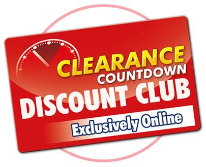 Clearance Countdown Discount Club
