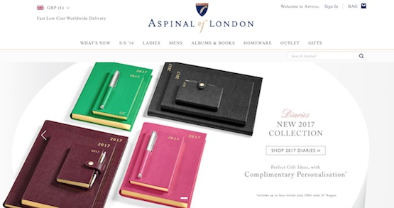 Aspinal Of London Website
