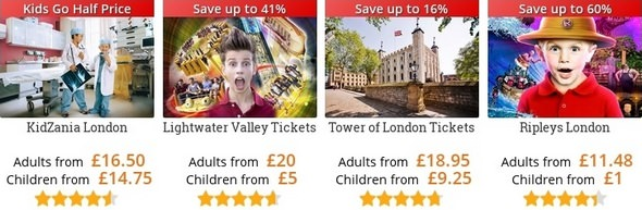 Attractiontix Offers