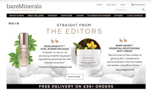 Bareminerals Website