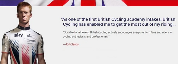 Ed Clancy for British Cycling