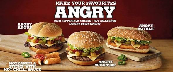 Burger King Spicy Range