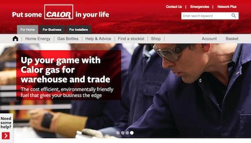 Calor Gas Website