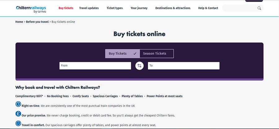 Chiltren railways Voucher Code