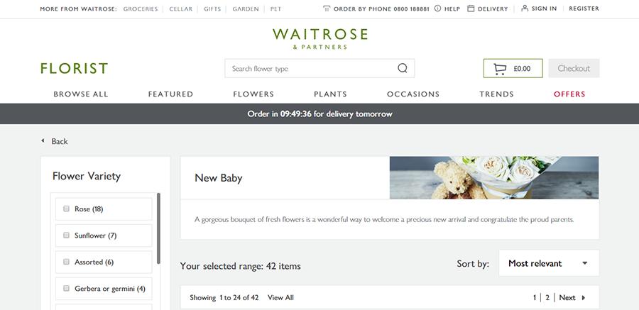 florist by waitrose and partners voucher codes