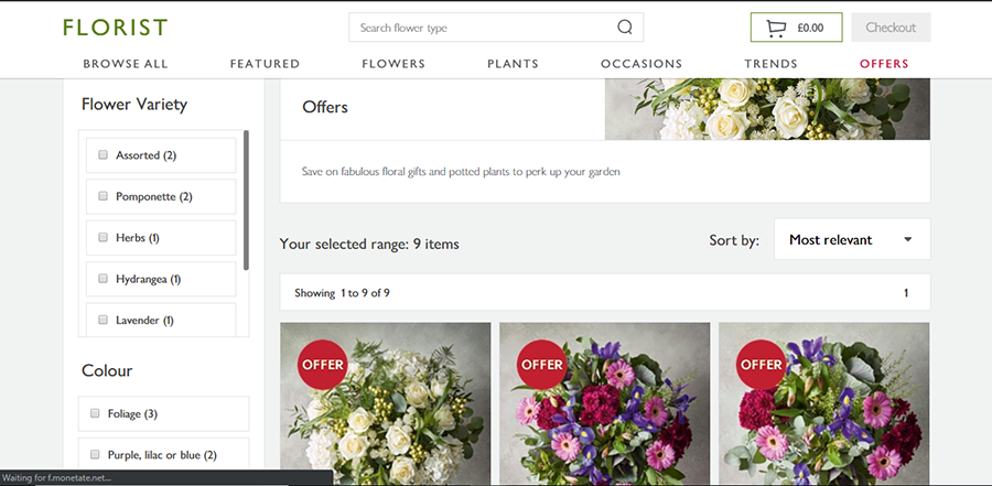 florist by waitrose and partners coupon codes