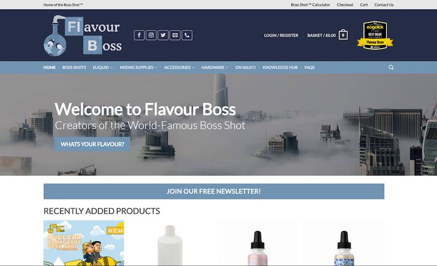 Flavour Boss Homepage