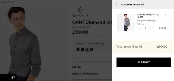 Gant Online Checkout