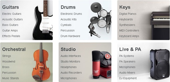 Gear4Music Instruments Range