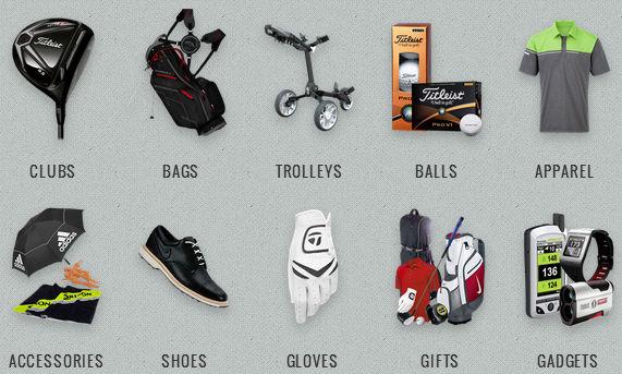 GolfOnline Categories