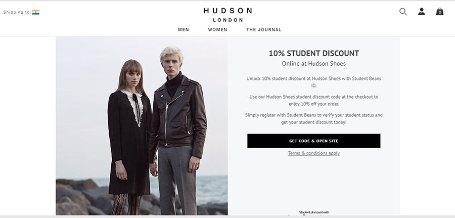 hudson promo code