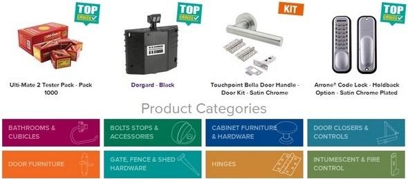 Ironmongery Direct Product Categories