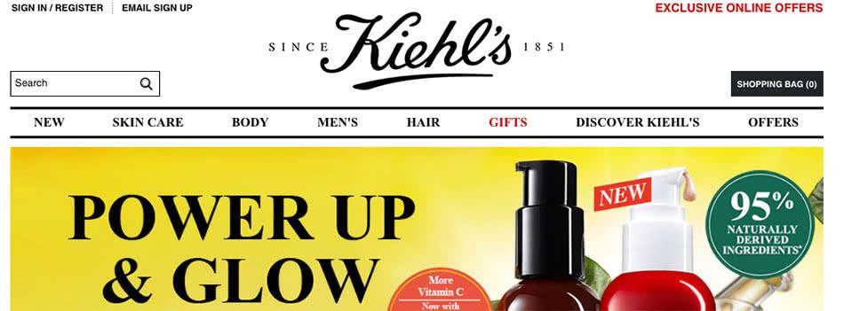 Kiehl's Homepage Voucher Code