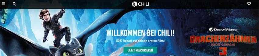 CHILI Gutschein 50% Rabatt