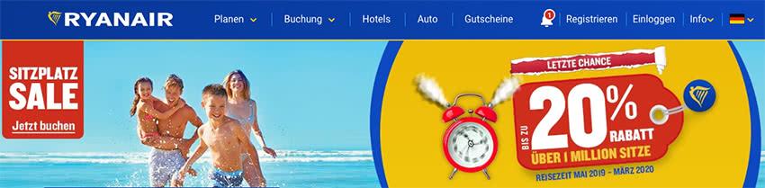 Ryanair Gutschein