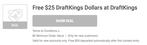 DraftKings Offer Terms