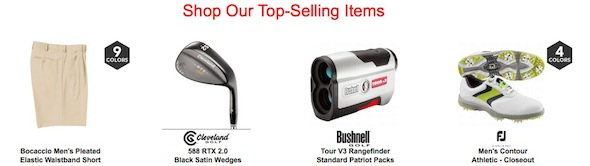 The Golf Warehouse Bestsellers