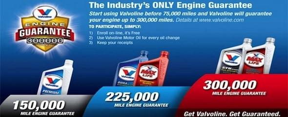 Valvoline Instant Oil Change Engine Guarantee