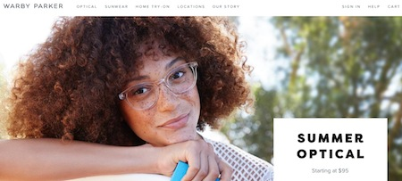 Warby Parker Website