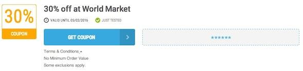 World Market Offer Terms