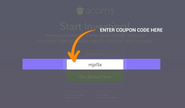 Acorns Code Redemption