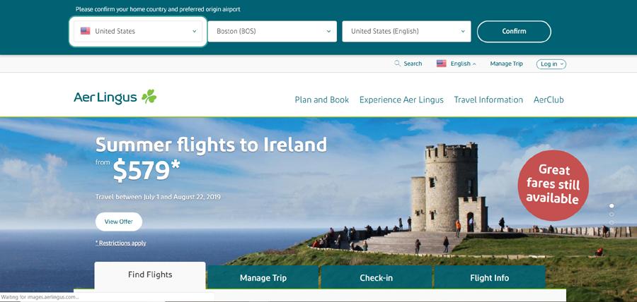 Aer Lingus Coupon Code