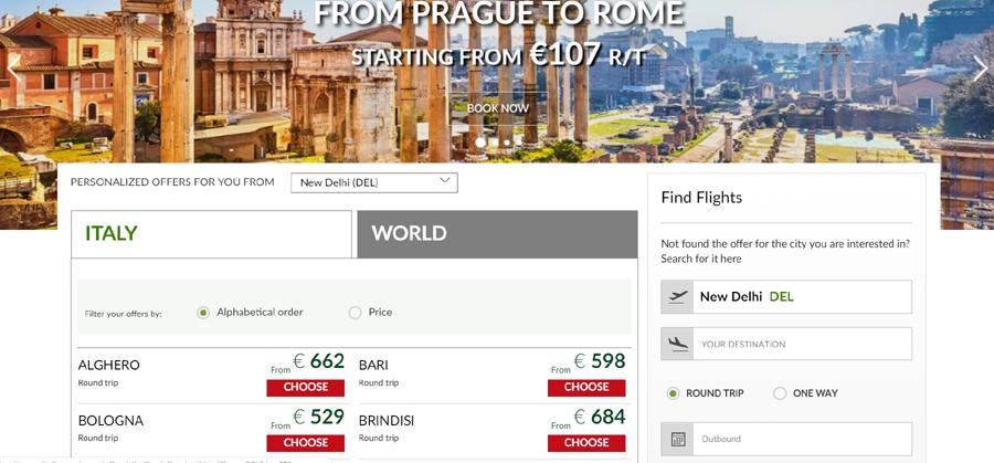 Alitalia promo Code