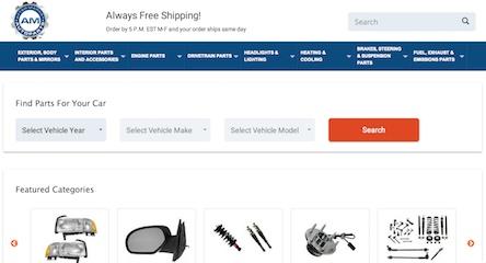 AM Autoparts Website