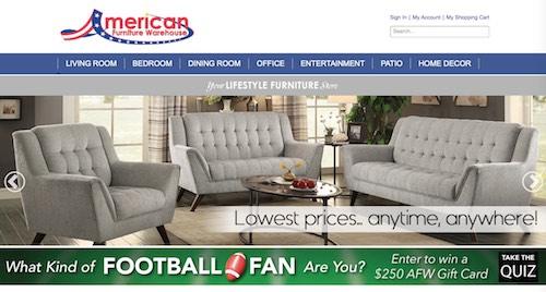American Furniture Warehouse Website