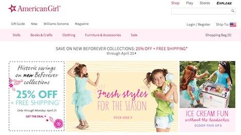 American Girl Website