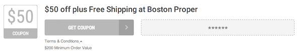 Boston Proper Offer Terms