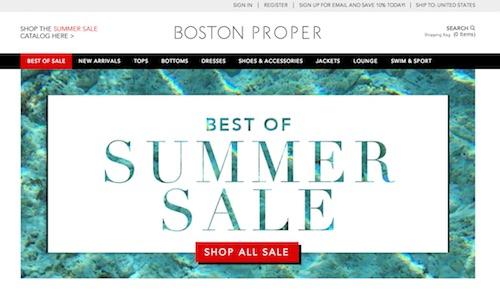 Boston Proper Website