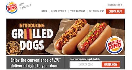 Burger King Website