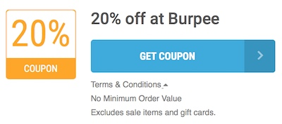 Burpee Offer Terms