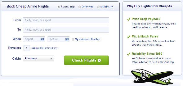CheapAir Book Flights