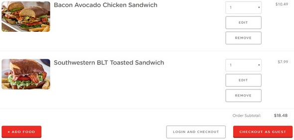 Chili's online ordering