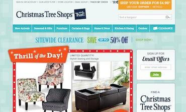 Christmas Tree Shop Website