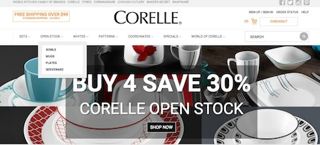 Corelle Website
