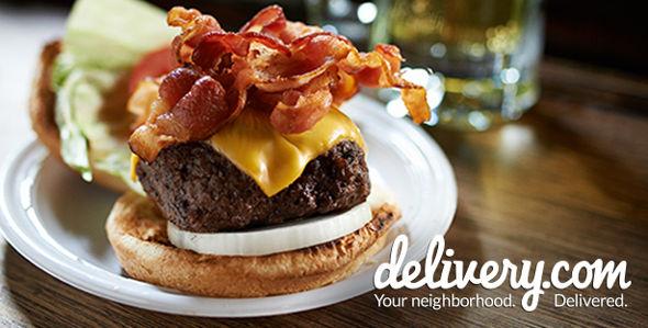 Delivery.com Bacon Cheeseburger