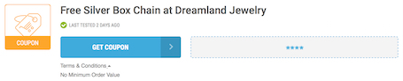 Dreamland Jewelry Offer Terms