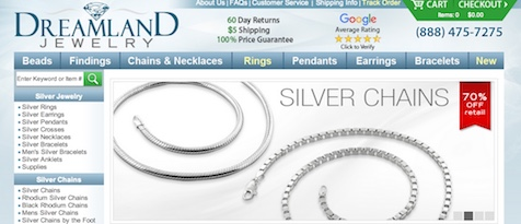 Dreamland Jewelry Website
