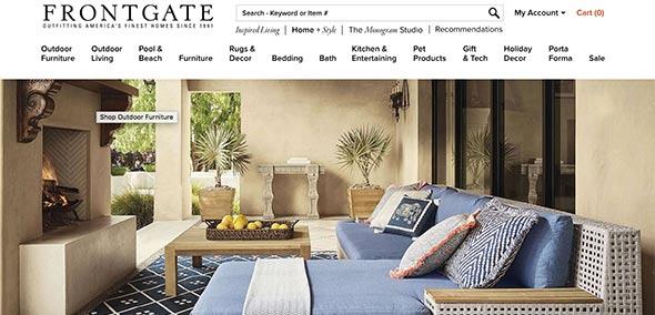 frontgate Website