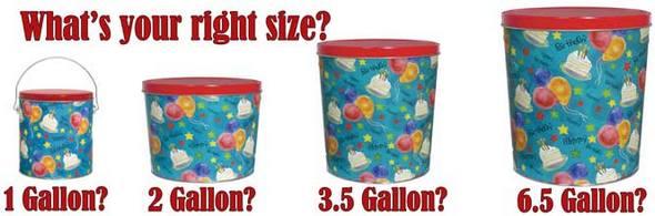 Garrett Popcorn Bucket Sizes
