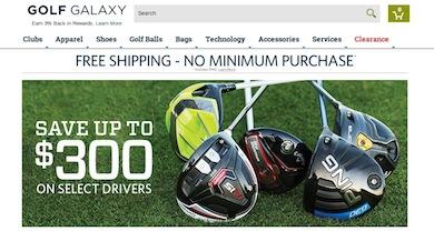 Golf Galaxy Website