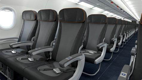 JetBlue Plane Interior