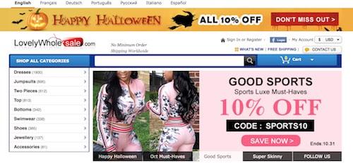 lovelywholesale.com Website