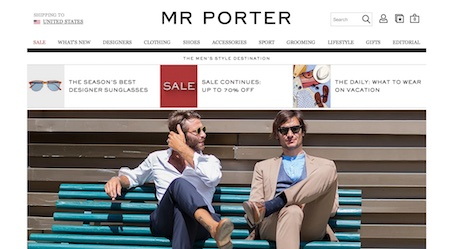 MR PORTER Website