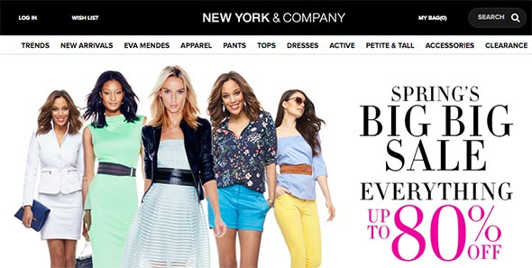 New York and Company Website