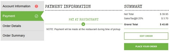 O'Charley's Online Ordering