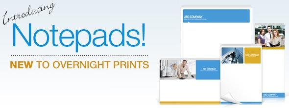 Overnight Prints Custom Notepads